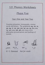 121 Phase 5 Phonics Worksheets - Phase Five Literacy - KS1 Resource on CD
