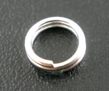 1000PCs Silver Plated Double Loop Split Open Jump Rings 5mm Dia.