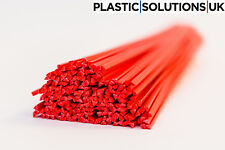 ABS Plastic welding rods (4mm) red 20 rods, motorbike fairings repairs