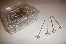 """2.5""""diamonte diamante 100 pins wedding/corsage/flowers"""