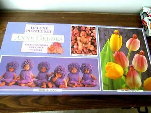 Anne Geddes Deluxe Puzzle Set (Set of 3) 100, 550, & 700 Pieces - Brand New -