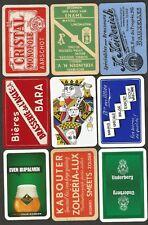 JEUX DE CARTES-PLAYING CARDS- 9 SINGLES-DOS DIFFERENTS  DE BRASSERIE