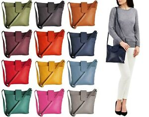 Handbag Bliss Medium-Large Size Grained Italian Leather Cross Body Shoulder Bag