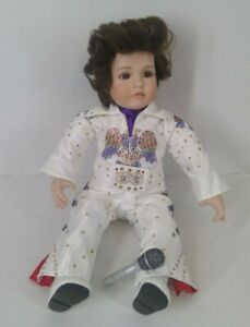 2007 Marie Osmond Elvis Doll Limited Edition # 2627 / 5000 All Shook Up With Mic
