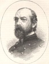 MILITARIA. Civil War. General Meade c1880 old antique vintage print picture