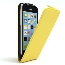 Tasche für Apple iPhone 5C Flip Case Schutz Hülle Handy Cover Gelb