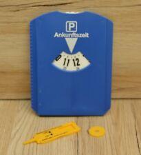 Parkscheibe, Parkuhr mit Eiskratzer, Gummilipe, EK.-Chip und Profilmesser, blau
