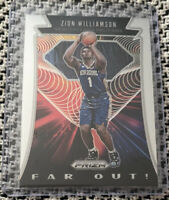 2019-20 Panini Prizm Zion Williamson Far Out Insert #24 Rookie RC Pelicans