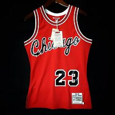 100% Authentic Michael Jordan Mitchell & Ness Bulls Rookie Red Jersey Size 36 S