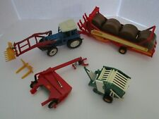 Britains Farm Toys Ford 7710 Tractor + Hay Implements Lot Of 4 Must See 1:32