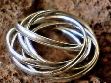 SOLID STERLING SILVER RING with 6 SINGLE FINE BANDS UK.sizes L & N   £24.95 NWT