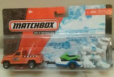 Matchbox on a mission Snow Attack truck snowmobile action figures hitch n haul