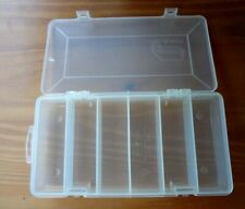 "6 Compartment Clear Craft Organizer Utility Box 8"" x 4"" x 1 1/8"".Made in Usa"