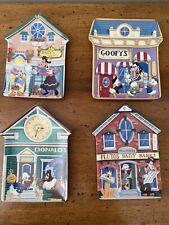 New ListingDisney Mickey'S Village Decorative Plates Set Of 4