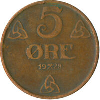 COIN / NORWAY / 5 ORE 1928  #WT5181