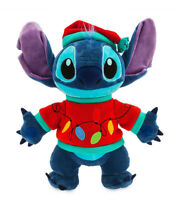 Plush Peluche Stitch LUMINEUX NOEL Christmas Disneyland Paris Disney Neuf