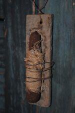 Primitive Tobacco Lath Hanging Candle / Peg Rack Hanger Folk Art Country Decor