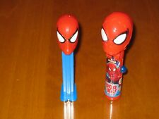 Lot of 2 Candy Dispensers - One Spiderman' PEZ and One Pop Ups