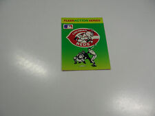 1990 Fleer Baseball Logo Stickers Cincinnati Reds Baseball Quiz on back