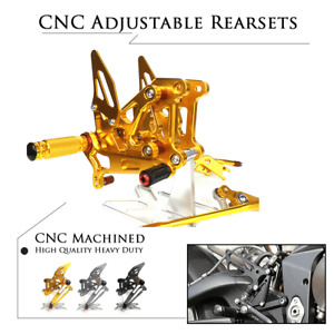 CNC ADJUST Rear Set Rearsets Footrests Foot Pegs for MV Agusta F3 675 800 12-17