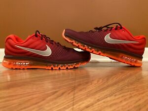 New Nike Air Max 2017 Night Maroon Gym Red Running Shoes Men's 15 849559-601
