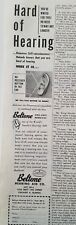 1949 vintage Beltone Hearing Aid hard of hearing ad