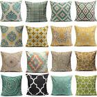 Vintage Home Decor Cotton Linen Pillow Case Sofa Throw Cushion Cover Square