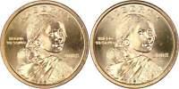2008 P&D $1 Sacagawea Native American Dollar 2 Coin Set Lot Uncirculated