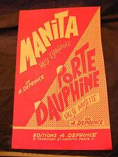 Partition Manita A Deprince Porte Dauphine Music Sheet