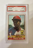 1976 Topps Jim Rice HOF PSA 4 Boston Red Sox Rookie Card