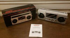 Vintage Boombox Americana AM/FM Stereo Portable Radio Ghetto Blaster