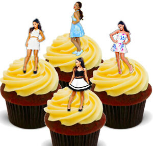 Ariana Grande  Pack of 12 Edible Cup Cake Toppers, Fairy Bun Decorations