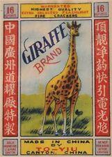 New Firecracker Giraffe Label Image Refrigerator / Tool Box Magnet Man Cave