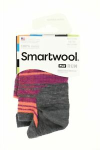 Smartwool 249357 Womens Run Ultra Light Micro Socks Medium Gray Size Medium