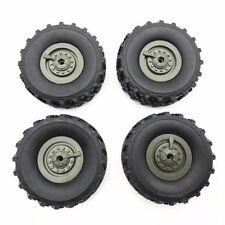 4x RC Car Off Road 1:16 Scale Monster Truck Tyre Tires Wheel Rim For WPL RC Cars