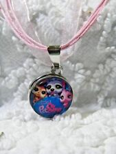 Interchangeable 18mm Pet Shop Snap Charm On Orang Ribbon Cord Necklace N 590