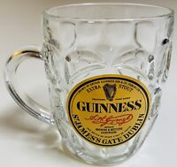 Guinness St James's Gate Dublin Vintage Dimpled Glass Beer Mug Stout 16 oz Used