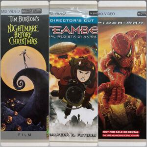Psp Film UMD Nightmare Before Christmas ITA - Steamboy ITA - Spiterman 2 ENG