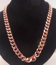 "Solid Copper Necklace Chain Link Design 24"" Curb Link Arthritis Pain Relief"