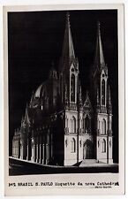 SAO PAULO BRAZIL Brasil RPPC Real Photo Postcard CATHEDRAL Maquette CATHOLIC