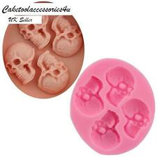Halloween Silicone Skull Mould Cake Decoration Icing Chocolate Fimo Sugarpaste