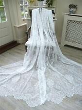 """LAST FEW! STUNNING 58""""x72"""" NEW FINE LACE/NET FRENCH STYLE JOSETTE CURTAINS"""