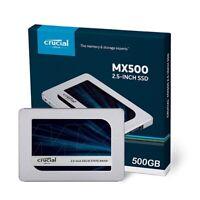 Crucial MX500, 500GB Internal Solid State Drive CT500MX500SSD1 SATA 2.5 inch -UK
