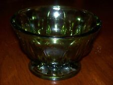 VINTAGE INDIANA GREEN CANDY/NUT DISH
