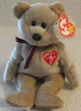 Ty Beanie Baby 1999 Signature Bear 5th Generation Hang Tag Gasport Tag Error