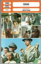 CODINE - Virgil Platon,Brion,Borgeaud,Colpi (Fiche Cinéma) 1963