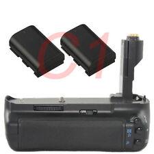 Muti power Grip for Canon 7D DSLR Camera as BG-E7 +2x LP-E6 decode battery