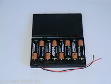 12 Volt Power Supply. 8x AA 1.5 Volt Battery Holder.