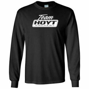 Team Hoyt Archery White Logo Long Sleeve Shirt Archery Hunting Compound Bow Tee
