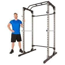 NEW Fitness Power Lifting Cage Pull Up Workout Stand Metal Squat Station Workout
